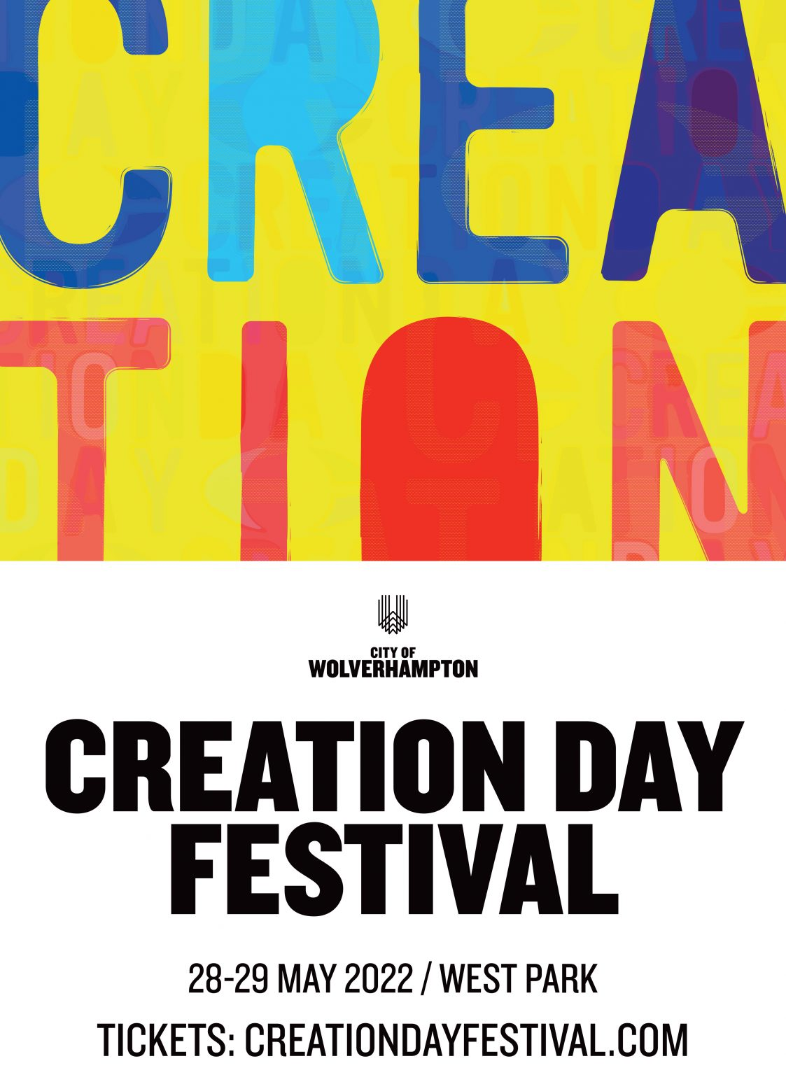 Creation day updated 2022 poster with white footer